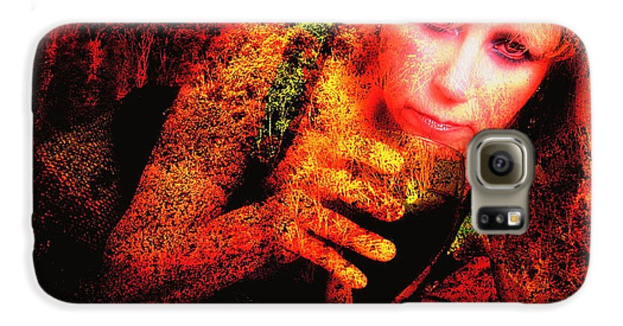 Clay Galaxy S6 Case featuring the photograph Wine Woman And Fall Colors by Clayton Bruster