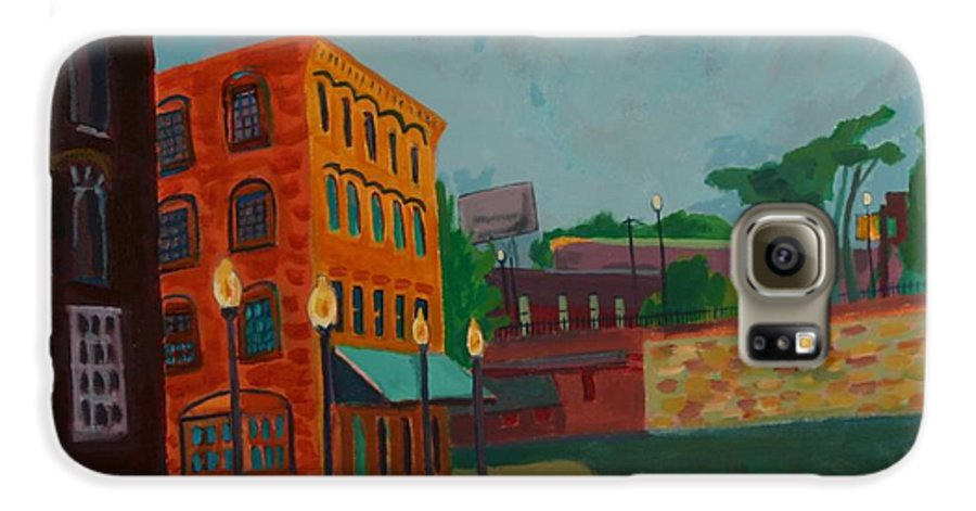 Cityscape Galaxy S6 Case featuring the painting Wingate Street by Debra Bretton Robinson