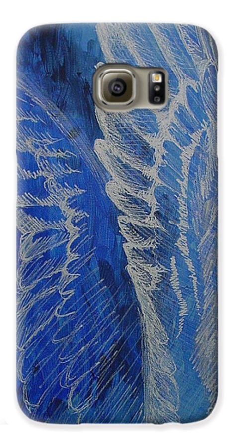 Acrylic Galaxy S6 Case featuring the painting Wings Of Angel by Jindra Noewi