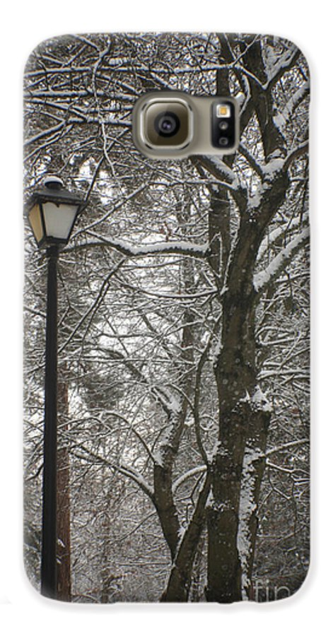 Lamp Galaxy S6 Case featuring the photograph Winter Lamp Post by Idaho Scenic Images Linda Lantzy