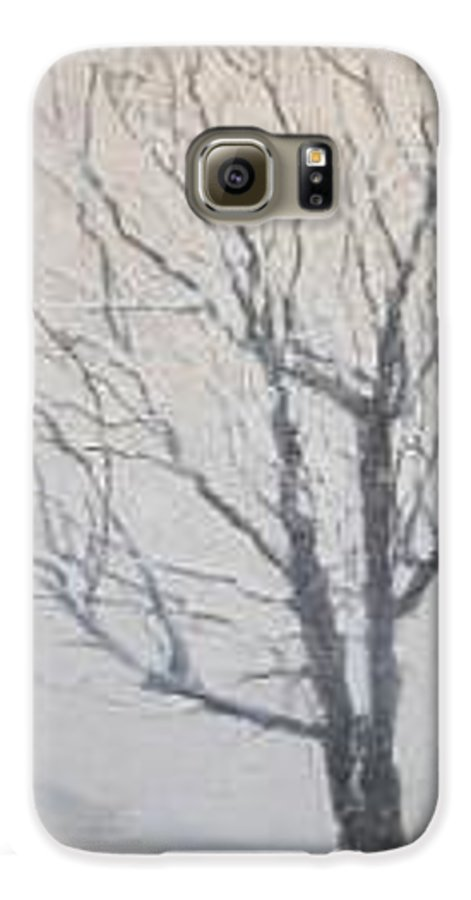 Tree Galaxy S6 Case featuring the painting Winter by Leah Tomaino