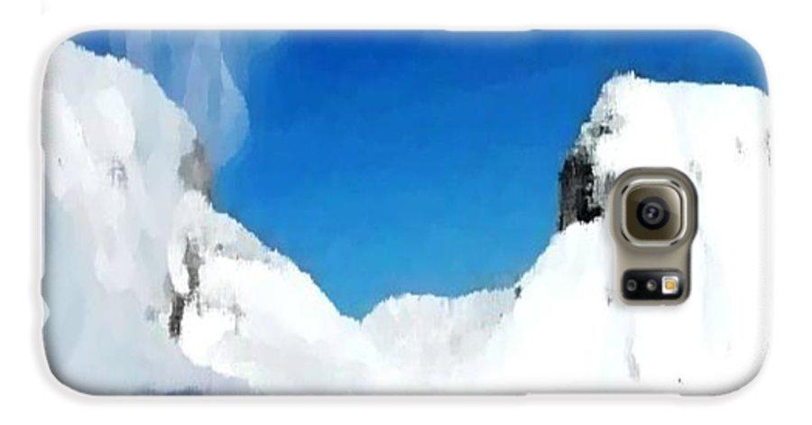 Landacape Galaxy S6 Case featuring the digital art Winter Wind by Dr Loifer Vladimir