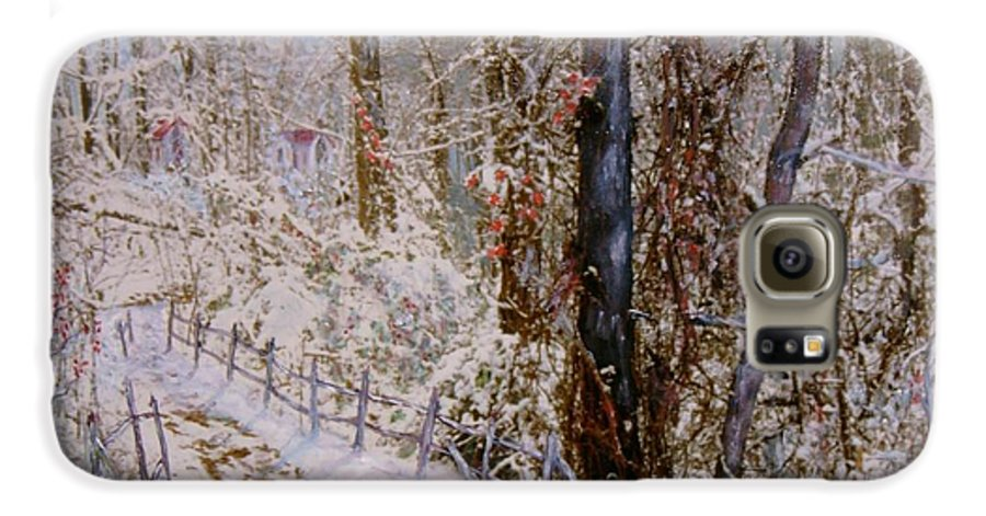 Snow; Trees Galaxy S6 Case featuring the painting Winter Wonderland by Ben Kiger