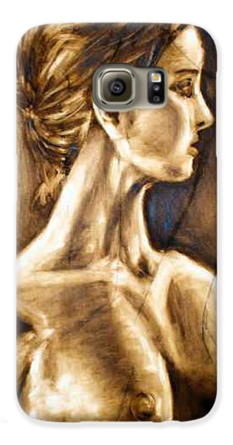 Galaxy S6 Case featuring the painting Woman by Thomas Valentine
