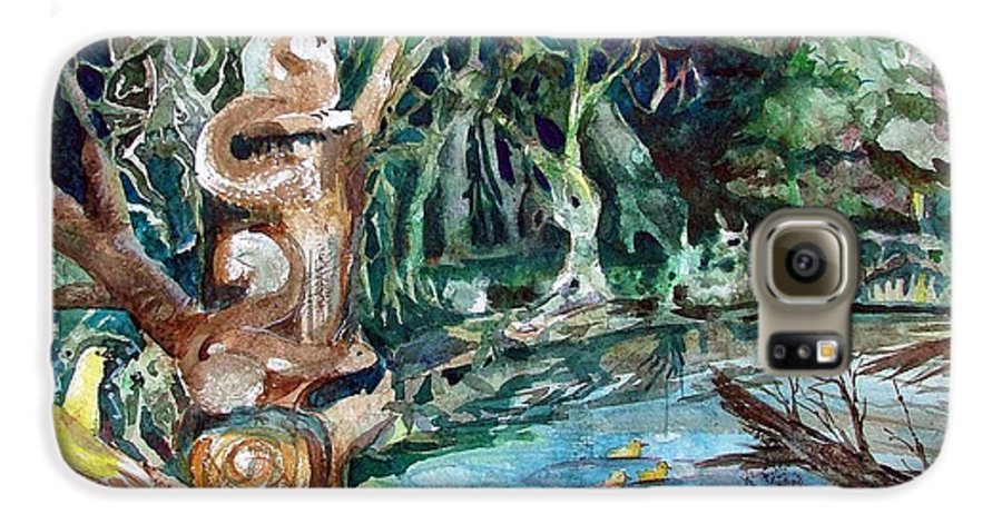Squirrels Galaxy S6 Case featuring the painting Woodland Critters by Mindy Newman