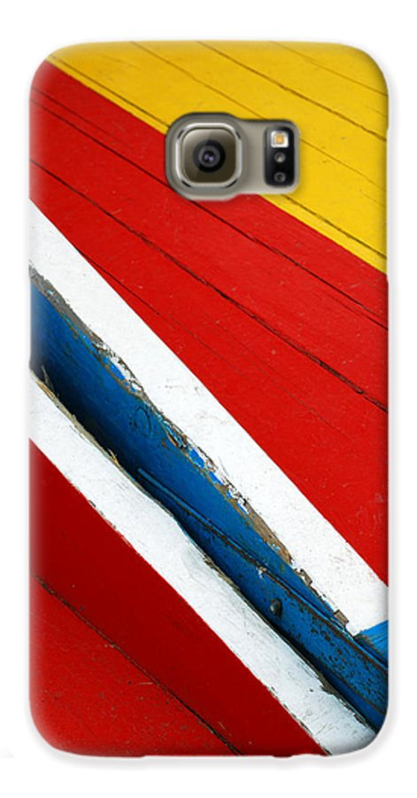 Red Galaxy S6 Case featuring the photograph Xochimilco Boat Abstract 1 by Skip Hunt
