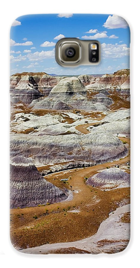 Painted Desert Galaxy S6 Case featuring the photograph Yea Though I Walk by Skip Hunt