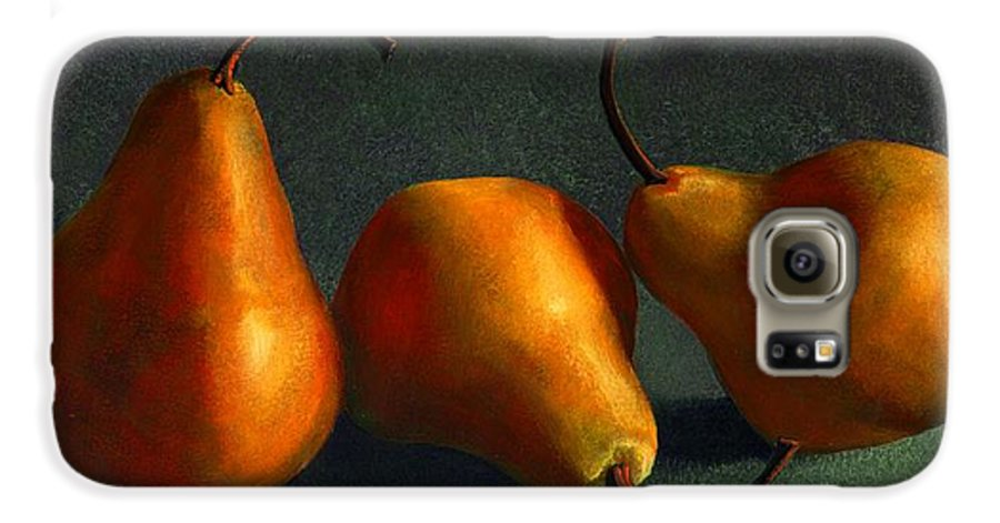 Still Life Galaxy S6 Case featuring the painting Yellow Pears by Frank Wilson