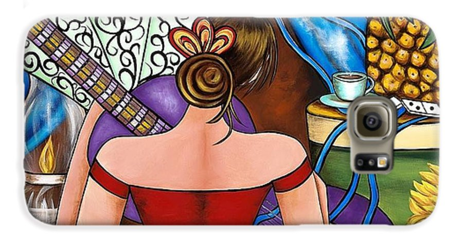 Cuba Galaxy S6 Case featuring the painting You Belong To Me by Annie Maxwell