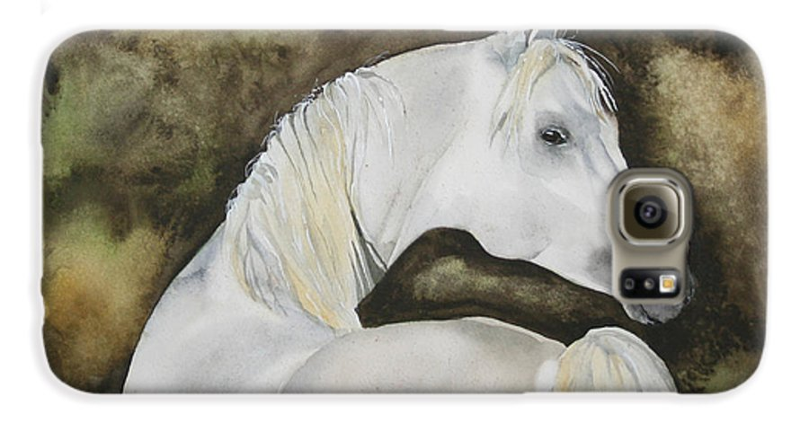 Horse Galaxy S6 Case featuring the painting You Talking To Me by Jean Blackmer