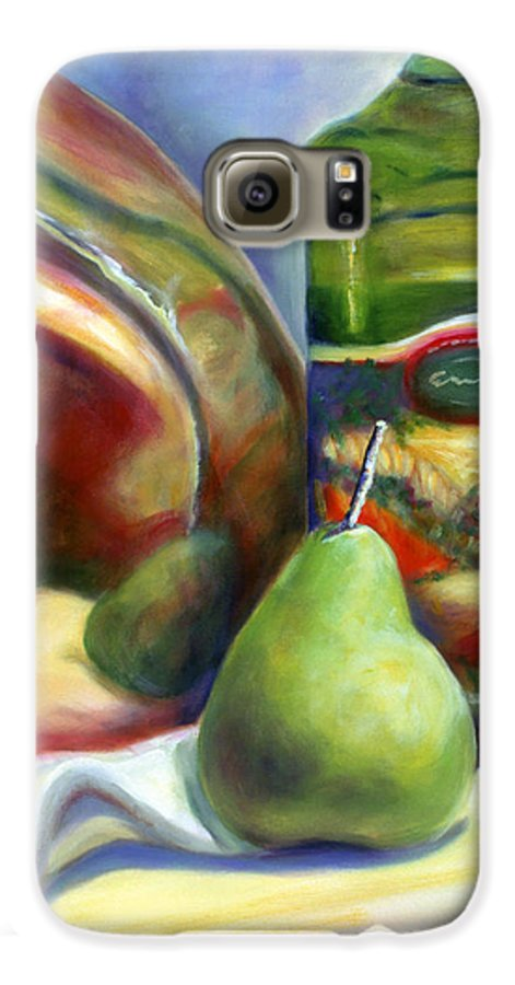 Copper Vessel Galaxy S6 Case featuring the painting Zabaglione Pan by Shannon Grissom