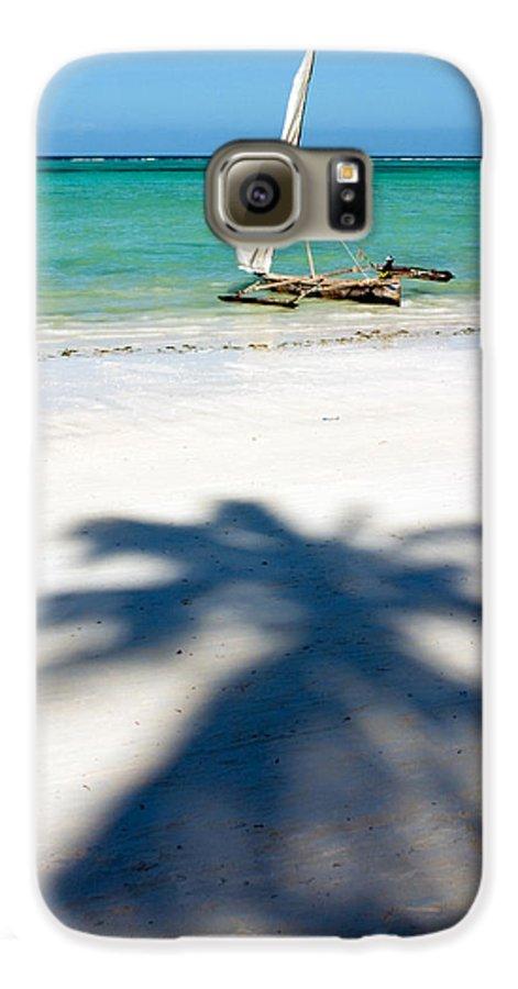 3scape Galaxy S6 Case featuring the photograph Zanzibar Beach by Adam Romanowicz