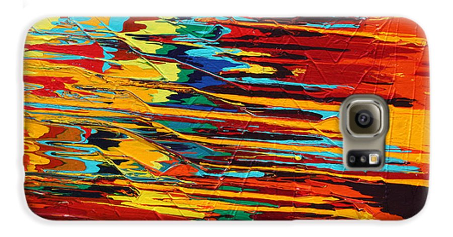 Fusionart Galaxy S6 Case featuring the painting Zap by Ralph White