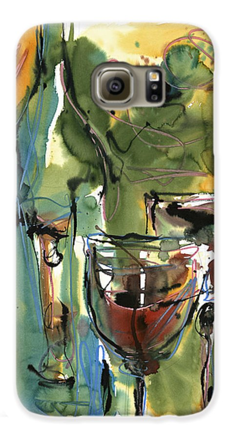 Wine Galaxy S6 Case featuring the painting Zin-findel by Robert Joyner