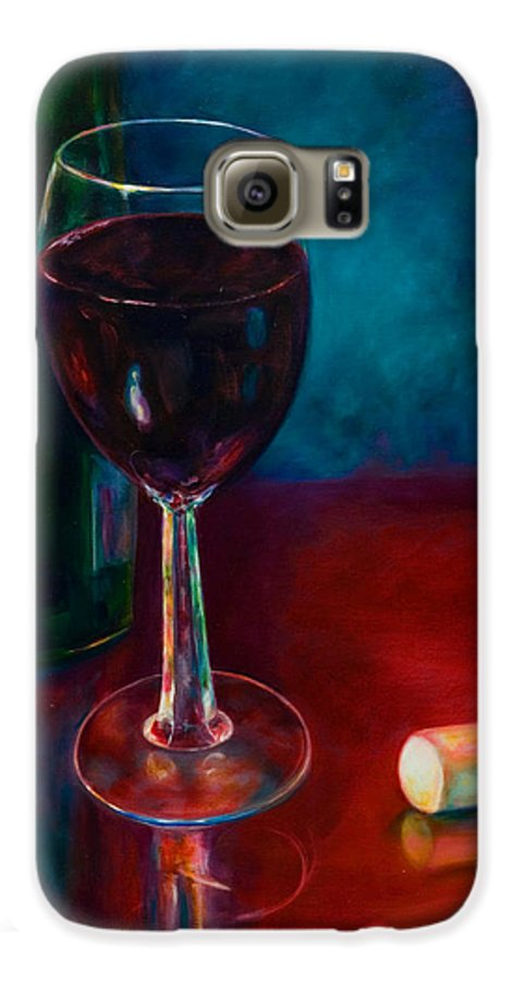 Wine Bottle Galaxy S6 Case featuring the painting Zinfandel by Shannon Grissom