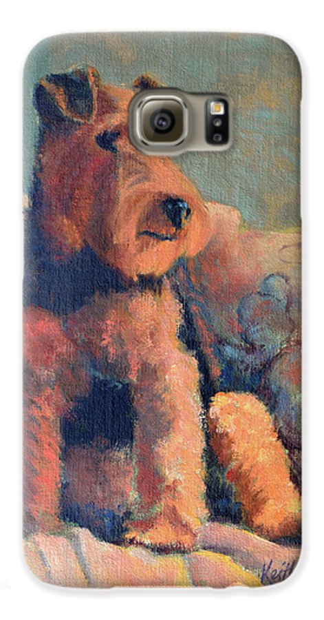 Pet Galaxy S6 Case featuring the painting Zuzu by Keith Burgess