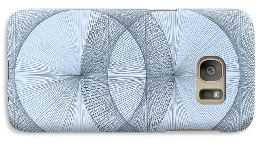 Fractal Galaxy S7 Case featuring the drawing Magnetism by Jason Padgett