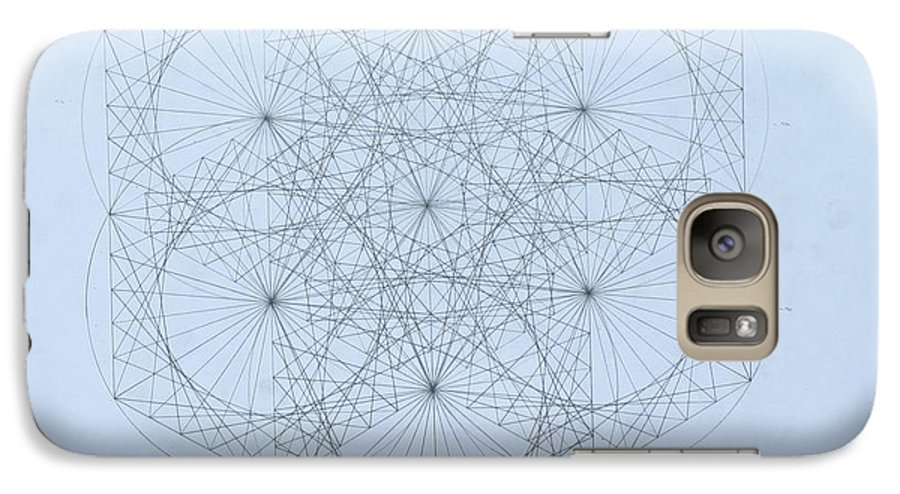 Jason Padgett Galaxy S7 Case featuring the drawing Quantum Snowflake by Jason Padgett