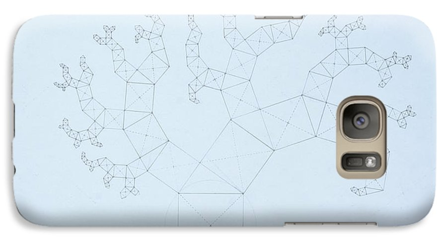 Fractal Tree Galaxy S7 Case featuring the drawing Quantum Tree by Jason Padgett