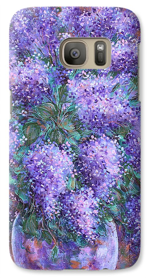 Flowers Galaxy S7 Case featuring the painting Scented Lilacs Bouquet by Natalie Holland