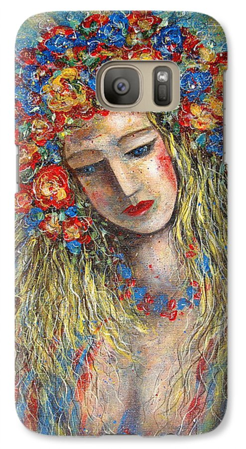 Painting Galaxy S7 Case featuring the painting The Loving Angel by Natalie Holland