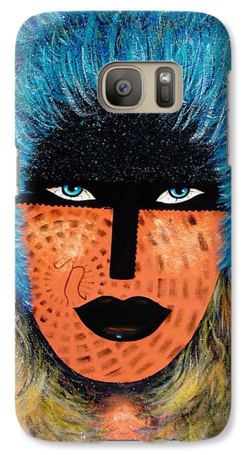 Woman Galaxy S7 Case featuring the painting Viva Niva by Natalie Holland