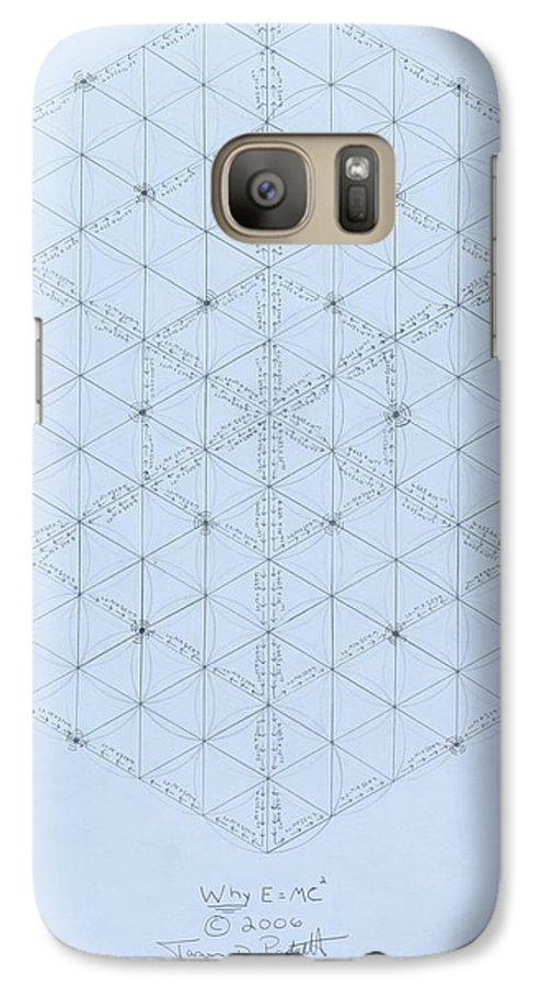 Energy Galaxy S7 Case featuring the drawing Why Energy Equals Mass Times The Speed Of Light Squared by Jason Padgett