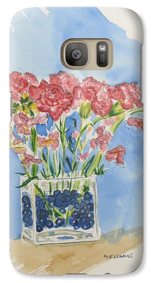 Flowers Galaxy S7 Case featuring the painting Flowers In A Vase by Mary Ellen Mueller Legault