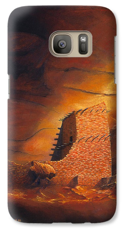 Mummy Cave Ruins Galaxy S7 Case featuring the painting Mummy Cave Ruins by Jerry McElroy