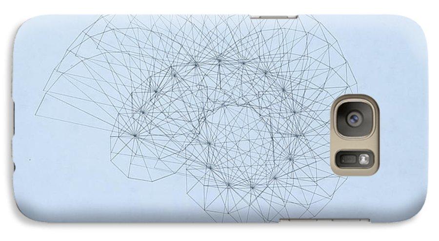 Jason Padgett Galaxy S7 Case featuring the drawing Quantum Nautilus by Jason Padgett