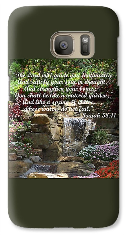 Inspirational Galaxy S7 Case featuring the photograph Watered Garden by Pharris Art