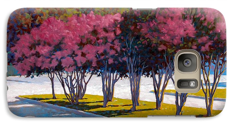 Crepe Myrtles Galaxy S7 Case featuring the painting Balanced Account by Kevin Lawrence Leveque