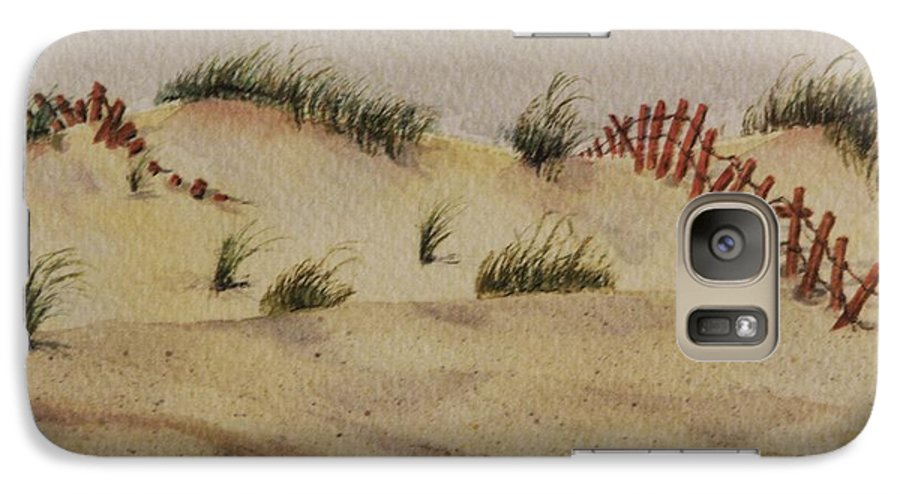 Sand Galaxy S7 Case featuring the painting Dunes by Mary Ellen Mueller Legault