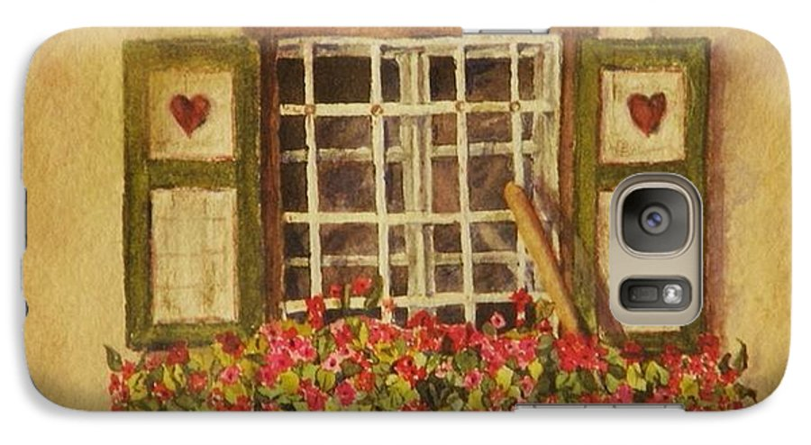 Rural Galaxy S7 Case featuring the painting Farm Window by Mary Ellen Mueller Legault