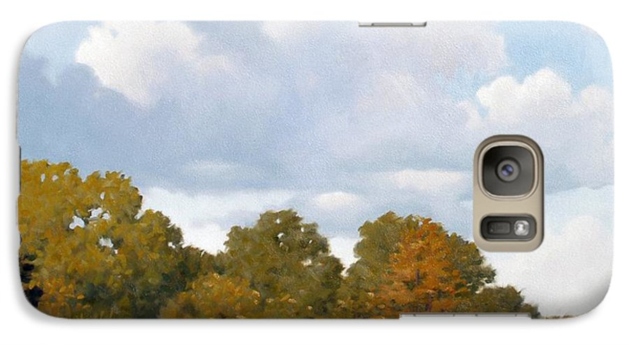 Bayou Galaxy S7 Case featuring the painting Gone Fishing by Kevin Lawrence Leveque