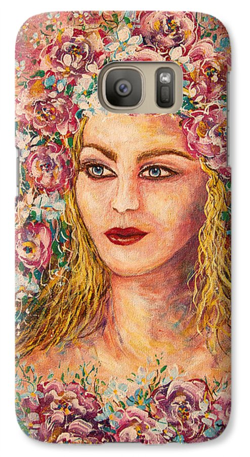 Goddess Galaxy S7 Case featuring the painting Good Fortune Goddess by Natalie Holland