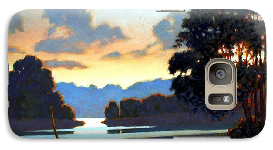 Landscape Galaxy S7 Case featuring the painting Grassy Point by Kevin Lawrence Leveque