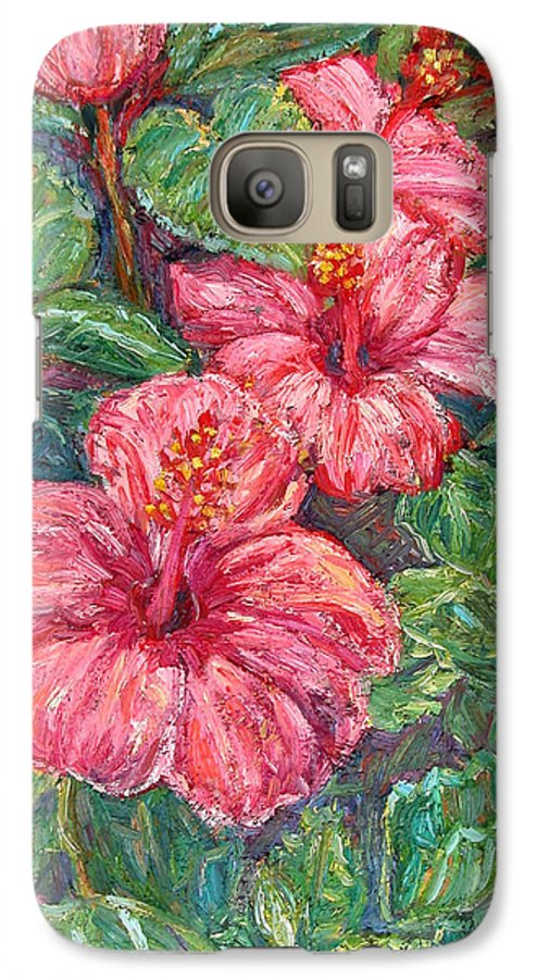 Hibiscus Galaxy S7 Case featuring the painting Hibiscus by Kendall Kessler