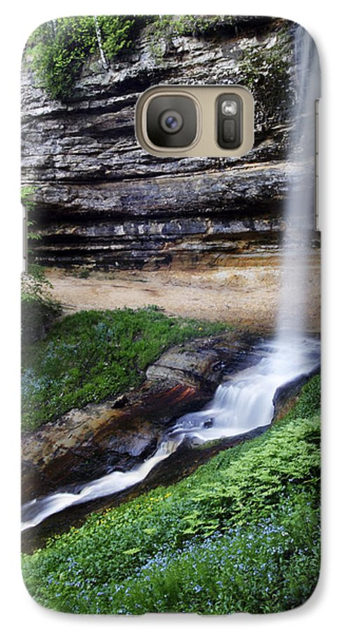 3scape Photos Galaxy S7 Case featuring the photograph Munising Falls by Adam Romanowicz