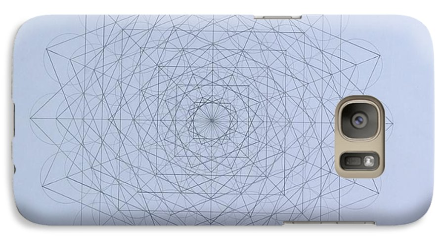 Jason Galaxy S7 Case featuring the drawing Quantum Foam by Jason Padgett