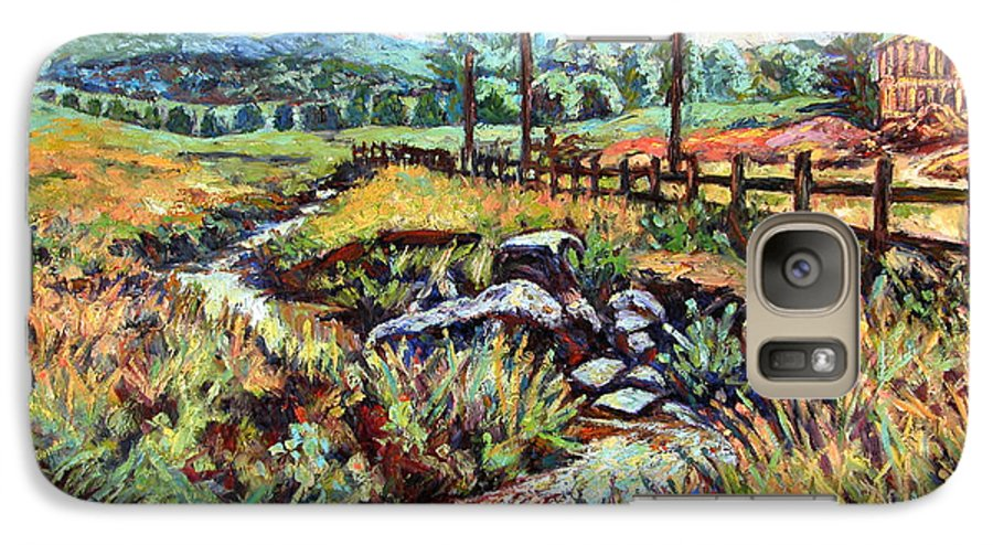 Landscape Paintings Galaxy S7 Case featuring the painting Stroubles Creek by Kendall Kessler