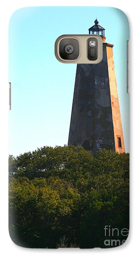 Lighthouse Galaxy S7 Case featuring the photograph The Lighthouse by Nadine Rippelmeyer