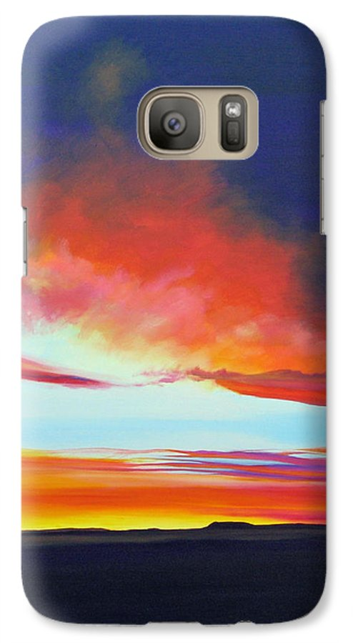Landscape Galaxy S7 Case featuring the painting The Long Way Home by Hunter Jay