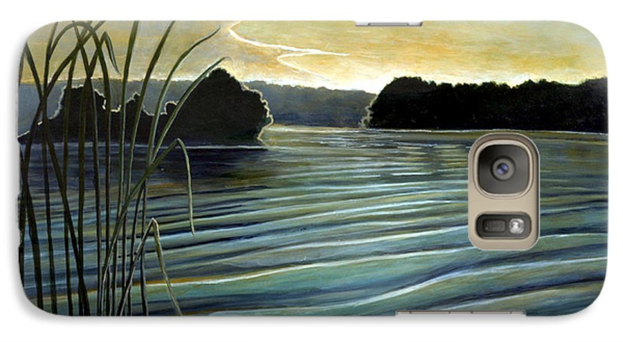 Rick Huotari Galaxy S7 Case featuring the painting What A Beautifull Morning by Rick Huotari
