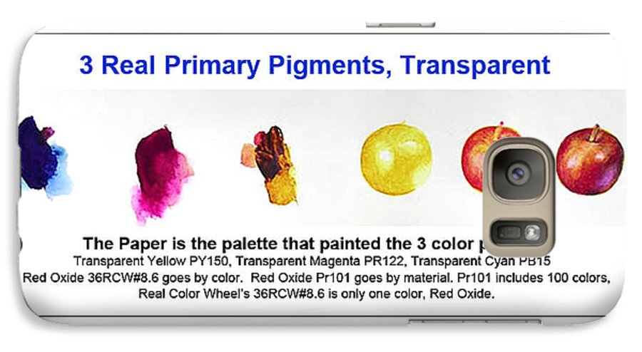 Faa Galaxy S7 Case featuring the painting 3 Primary Pigments - Apple by Don Jusko