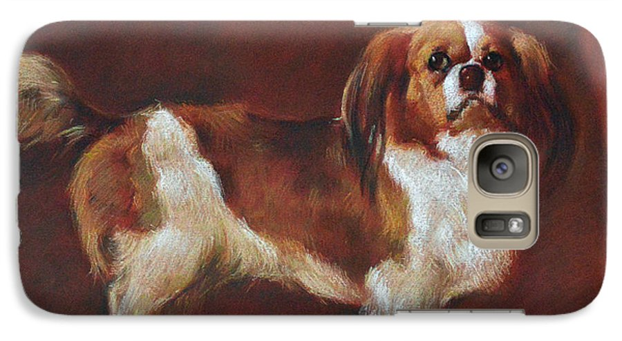 Pastel Galaxy S7 Case featuring the painting A King Charles Spaniel by Iliyan Bozhanov