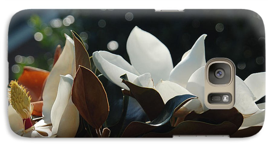 Magnolia Galaxy S7 Case featuring the photograph A Sea Of Magnolias by Suzanne Gaff