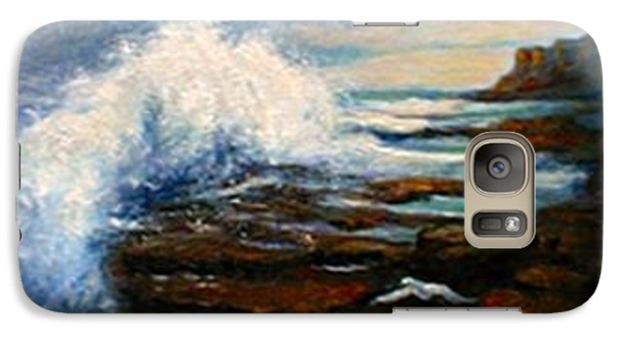 Seascape Galaxy S7 Case featuring the painting After The Storm by Gail Kirtz