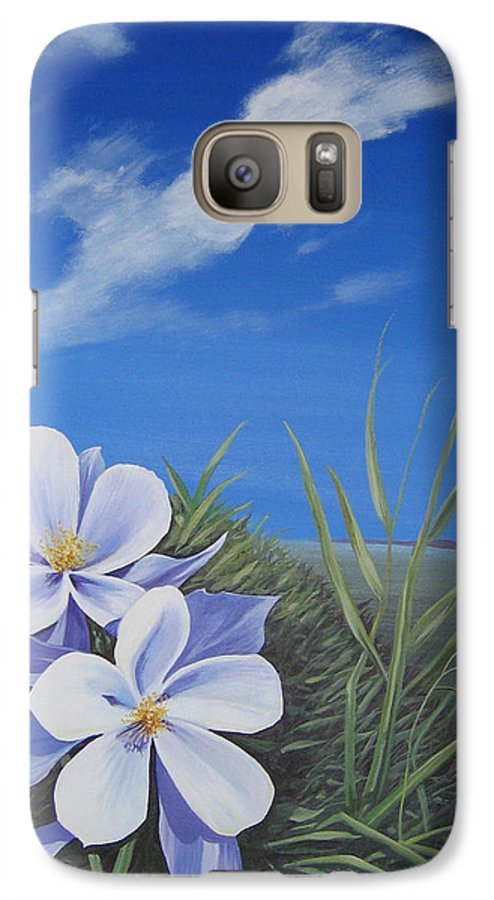 Landscape Galaxy S7 Case featuring the painting Afternoon High by Hunter Jay
