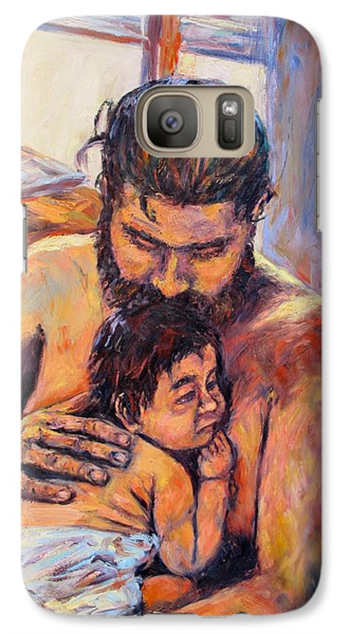 Kendall Kessler Galaxy S7 Case featuring the painting Alan And Clyde by Kendall Kessler